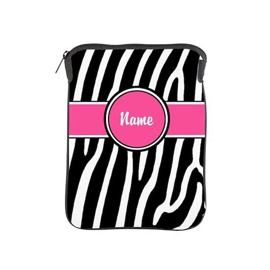 Pink Zebra Print Personalized