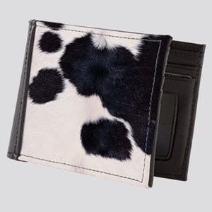 SPOTTED COW HIDE Mens Wallet