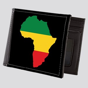 Green, Gold and Red Africa Flag Mens Wallet