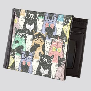 Hipster Cats Mens Wallet