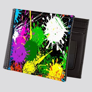 Paint Splatter Mens Wallet