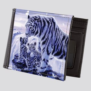 White Tigress And Her Cubs Mens Wallet
