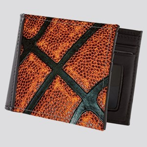 Old Basketball Pattern Mens Wallet