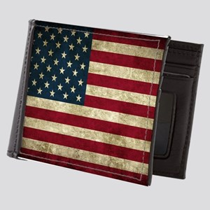 USA Flag - Grunge Mens Wallet