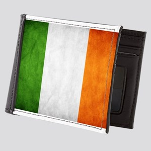 antiqued Irish flag Mens Wallet