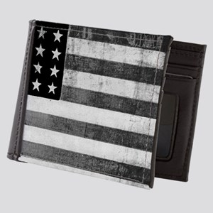 American Vintage Flag Black and White Mens Wallet