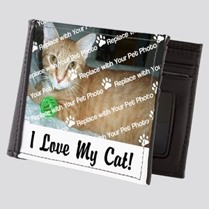 CUSTOMIZE Add Photo Love Cat Mens Wallet