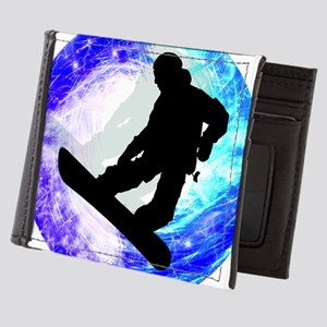 Snowboarder in Whiteout Mens Wallet