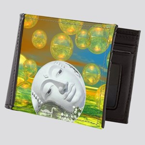 Peace – Golden and Emerald Serenity Mens Wallet