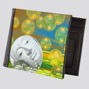 Peace - Golden and Emerald Serenity Mens Wallet