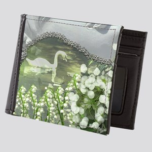In the Garden - Quan Yin Flowers Mens Wallet