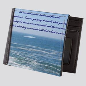 POWER OF THE MOMENT POEM Mens Wallet