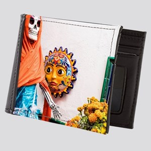 Day of the Dead Altar with Skeleton La Mens Wallet