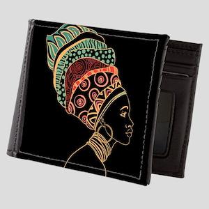 African Woman Mens Wallet