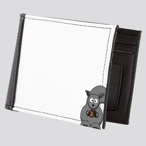 Short Attention White Mens Wallet