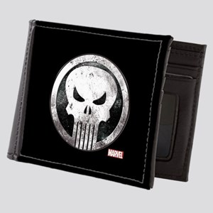 Punisher Grunge Icon Mens Wallet