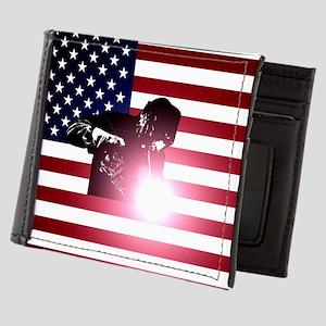 Welding: Welder & American Flag Mens Wallet