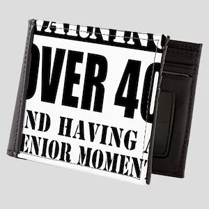 Over 40 Senior Moment Mens Wallet