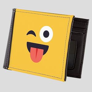 Winky Tongue Emoji Face Mens Wallet