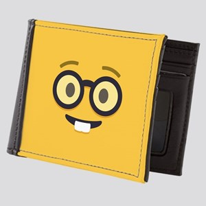 Nerdy Emoji Face Mens Wallet