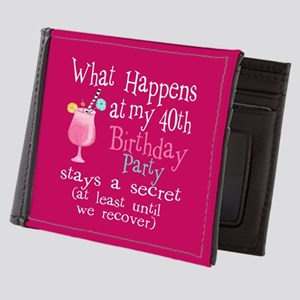 40th Birthday Party Mens Wallet