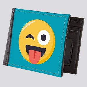 Winky Tongue Emoji Mens Wallet