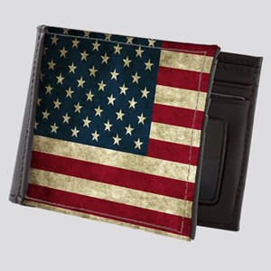 USA Flag - Grunge Mens Wallet