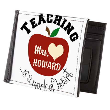 Personalize teaching: work of heart Mens Wallet