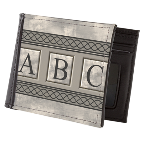 Personalizable Marble Monogram Mens Wallet