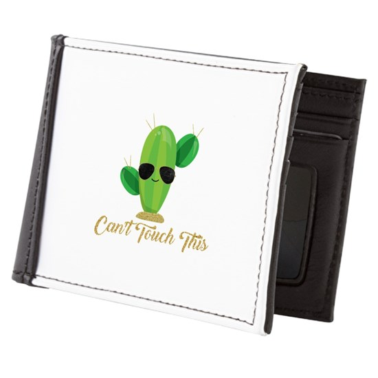 b3659448f186 Gold Can't Touch This Cactus Mens Wallet