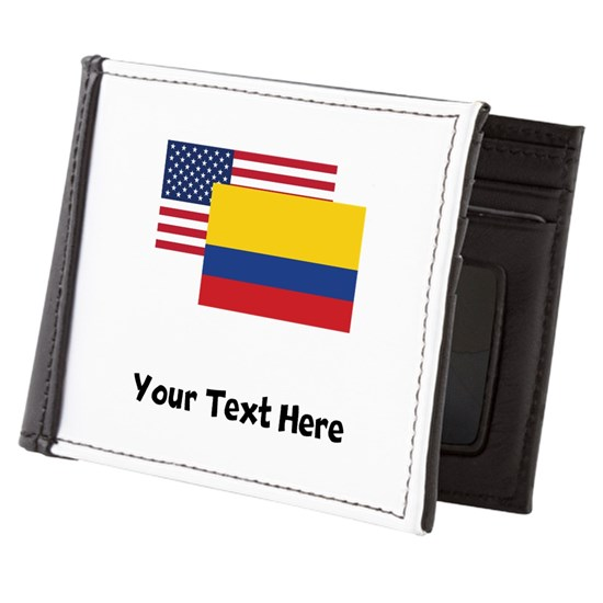 American And Colombian Flag