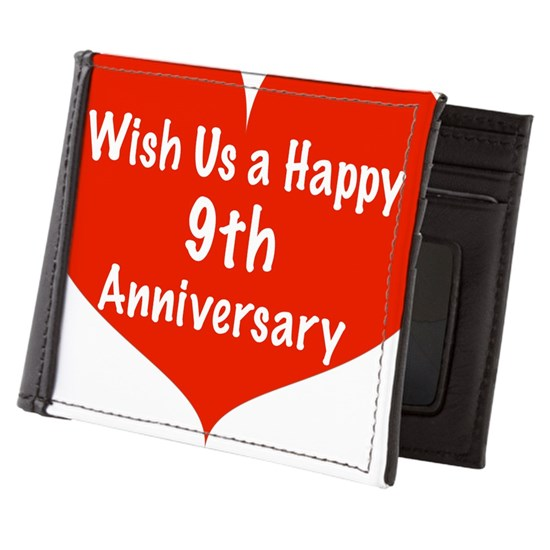 Wish Us A Happy 9th Anniversary Mens Wallet By Admincp11989343