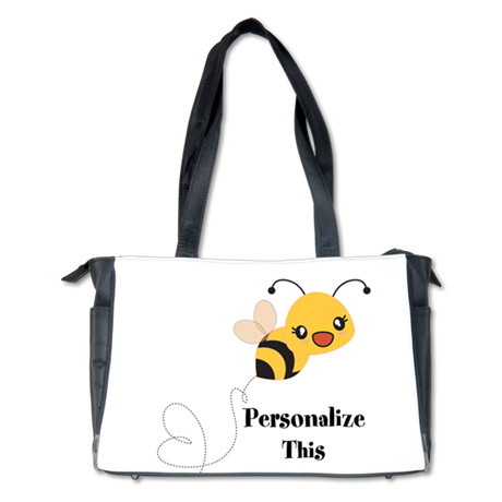 Personalized Cute Ble Bee Diaper Bag