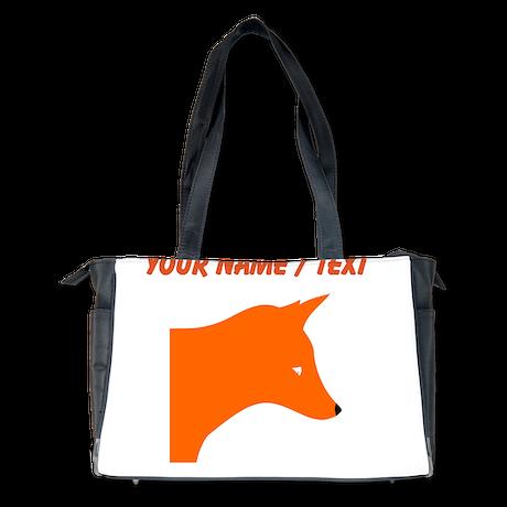Custom Orange Fox Diaper Bag