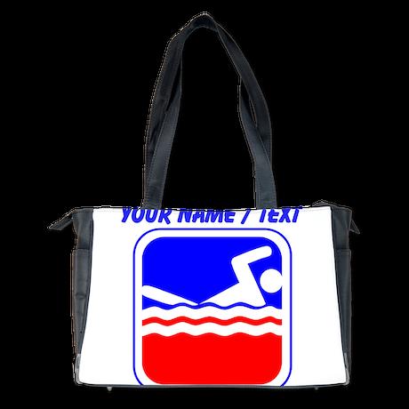 Custom Swimming League Logo Diaper Bag