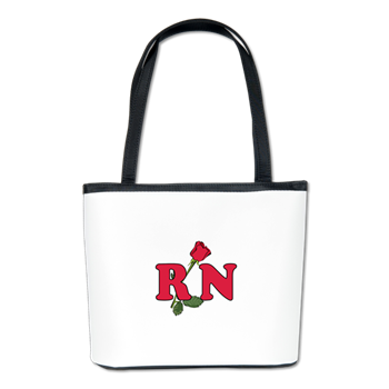RN Nurse Rose Bucket Bag