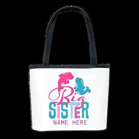 Custom Dolphin Big Sister Bucket Bag