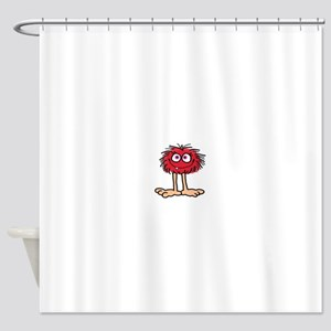 Red Fuzzy Gal Shower Curtain