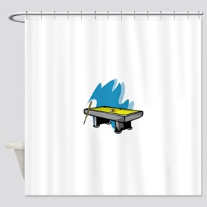 Pool Game Shower Curtain