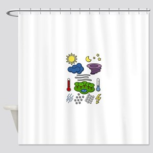 Weather chart symbols Shower Curtain