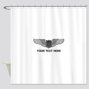 PERSONALIZED PILOT WINGS Shower Curtain