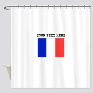 Custom France Flag Shower Curtain