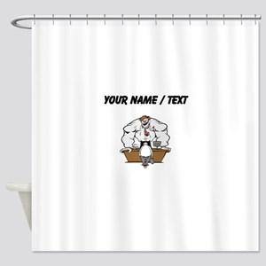 Custom Cartoon Boss Shower Curtain