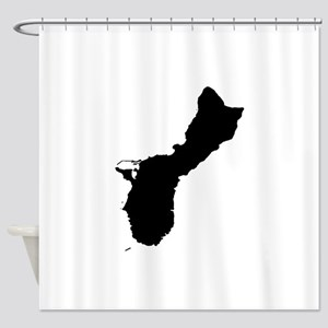 Guam Silhouette Shower Curtain