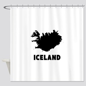 Iceland Silhouette Shower Curtain