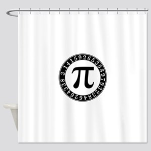 Pi symbol circle Shower Curtain