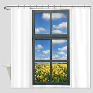 Fake Window Shower Curtains Cafepress