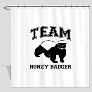 Team Honey Badger Shower Curtain