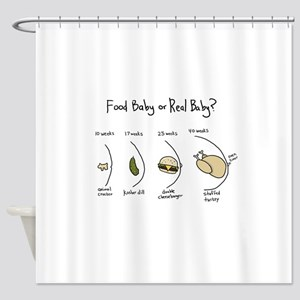 Food Baby or Real Baby? Shower Curtain