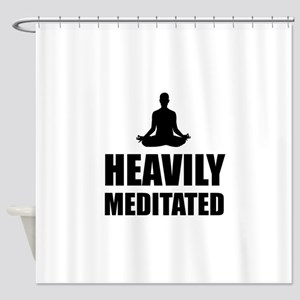 Heavily Meditated Shower Curtain